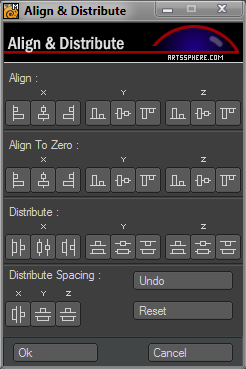 Align And Distribute interface